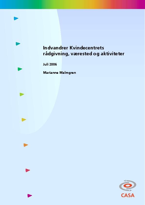 Indvandrer-Kvindecentrets-rådgivning-værested-og-aktiviteter-2006