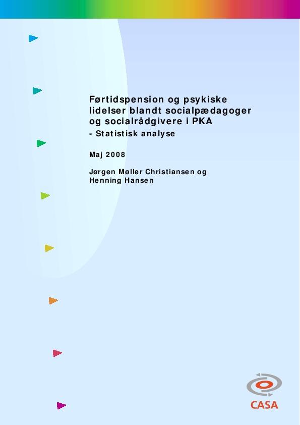 Førtidspension-og-psykiske-lidelser-blandt-socialpædagoger-og-socialrådgivere-i-PKA-statistisk-analyse-2008