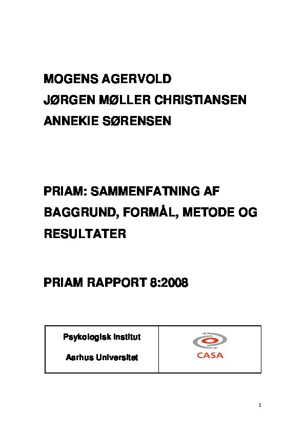PRIAM - Delrapport 8