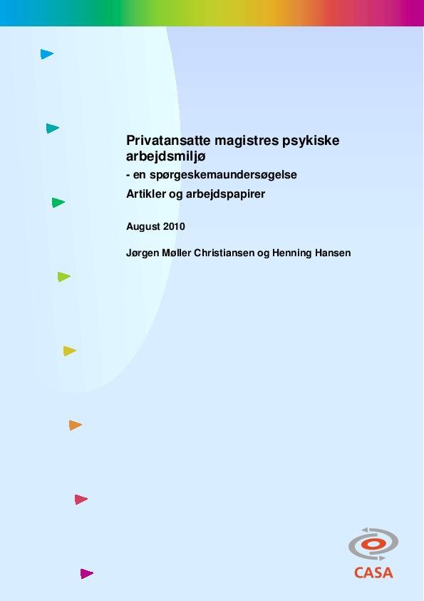 Privatansatte-magistres-psykiske-arbejdsmiljø-2010