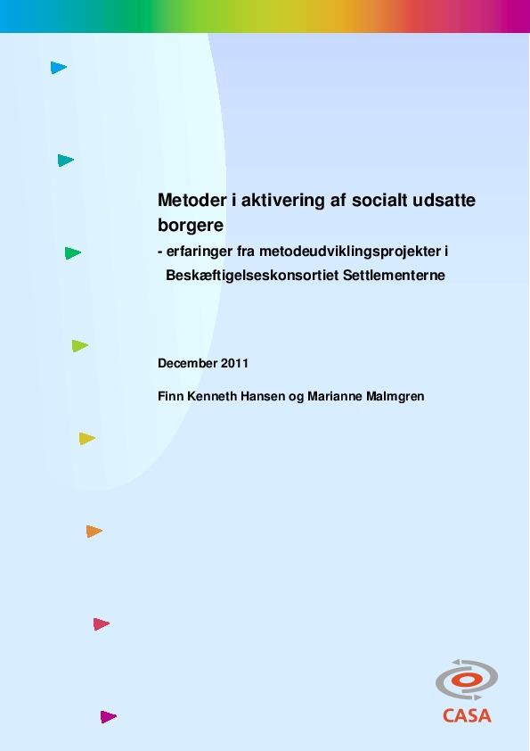 Metoder-i-aktivering-af-socialt-udsatte-borgere-2011