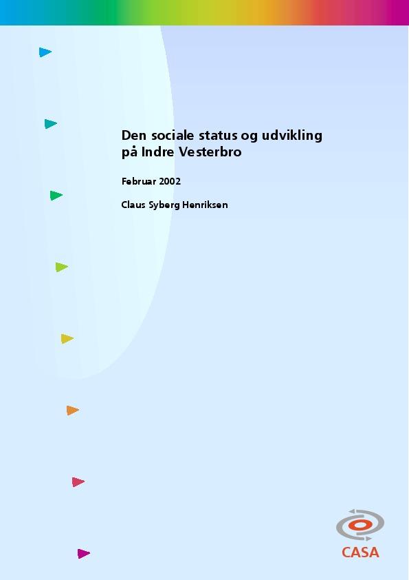 Den sociale status og udvikling på indre vesterbro